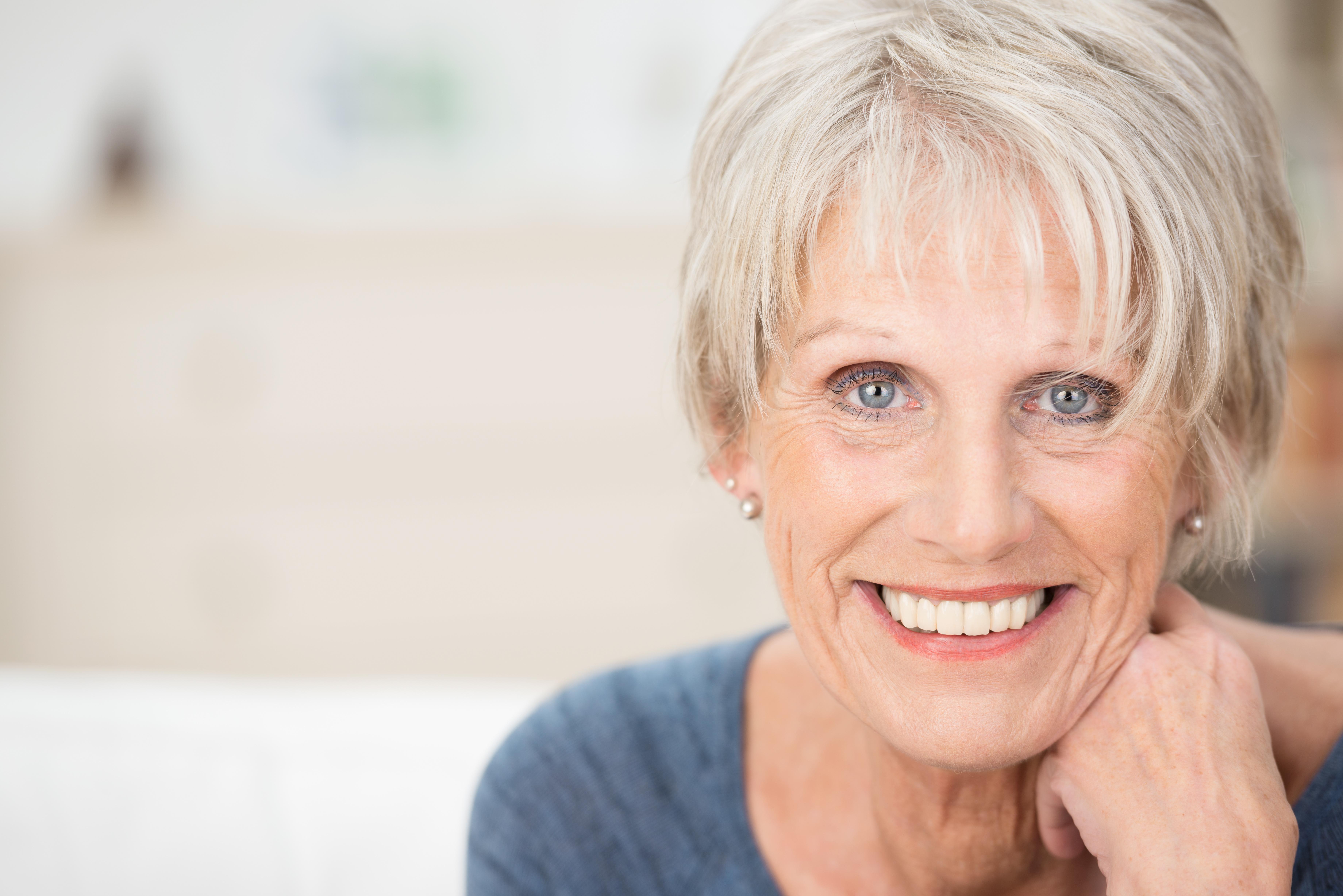 Strahlendes Lächeln auch im Alter